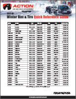Winter Wheel & Tire Pricing