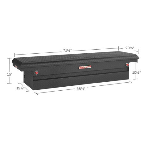 Model 121-52-01 Saddle Box, Aluminum, Full Low Profile, 8.8 cu ft