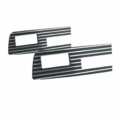 AMI Left/Right Bumper Insert Grille style-Polished/Black Powdercoat