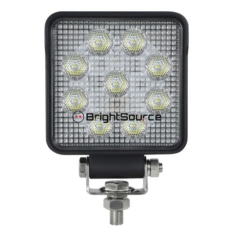4in. Square Work Light-Flood Pattern; no harness; 15W