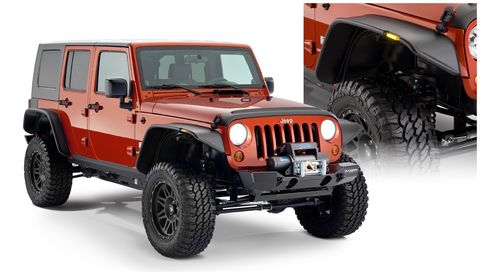 2007 2018 JEEP WRANGLER UNLIMITED FITS 4-DOORFF JEEP FLAT STYLE 4PC