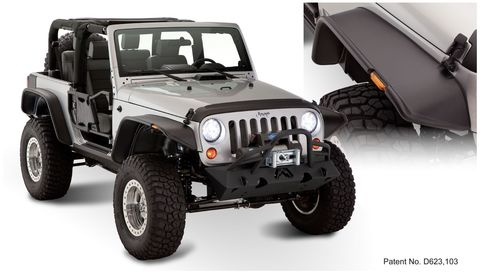 2007 2018 WRANGLER 2DR SPORT UTILITY MODELS ONLYFF JEEP FLAT STYLE 4PC