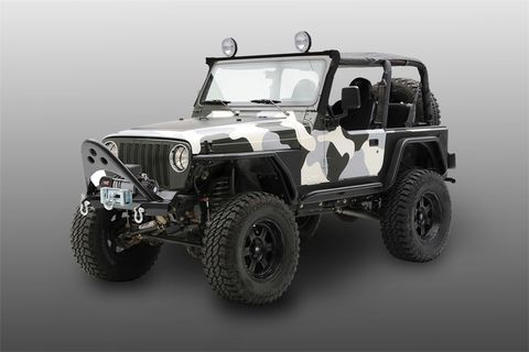 XRS Light Bar TJ Wrangler Black Powder Coat