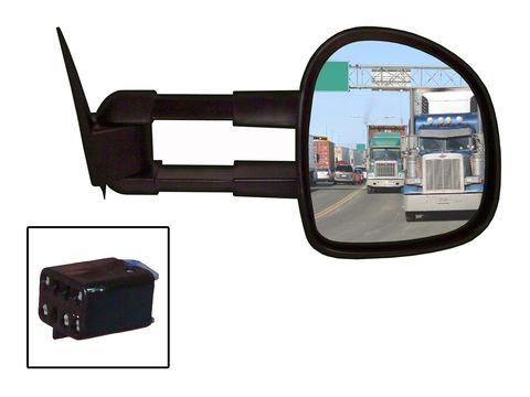 Towing Mirror-Kit contains 1 RH mirror; instructions; and hardware