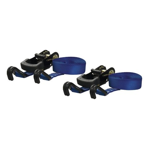 16ft. Blue Cargo Straps with J-Hooks (733 lbs.; 2-Pack)
