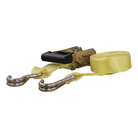 14ft. Yellow Cargo Strap with J-Hooks (1;667 lbs.)