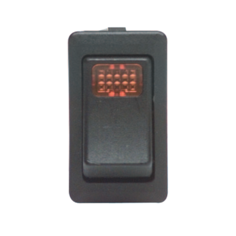 Rocker Switch: Illuminated, 12VDC, SPST