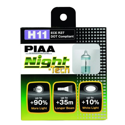 H11 NIGHT TECH TWIN PACK HALOGEN BULBS