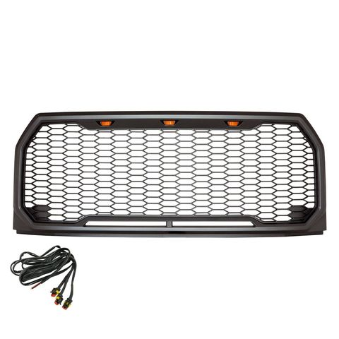 2015-2017 FORD F150 ABS LED METALLIC BLACK IMPULSE PACKAGED GRILLE