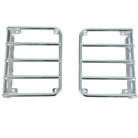 07-16 JEEP WRANGLER EURO STAINEURO STAINLESS TAILLIGHT GUARD CHROME