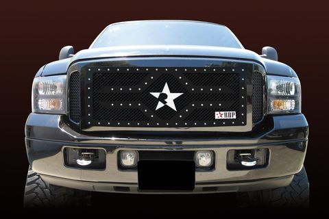 RX 2 Series studded frame-main grille-BLACK-3pc (requires cutting)