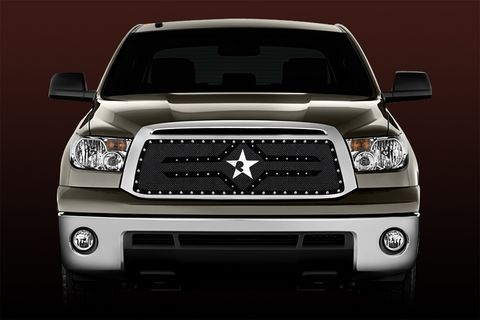 RX-2 Series studded frame-main grille-BLACK (requires cutting)