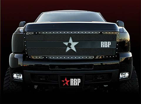 RX-3 Series studded frame-main grille-BLACK-1pc (replaces OE grille)