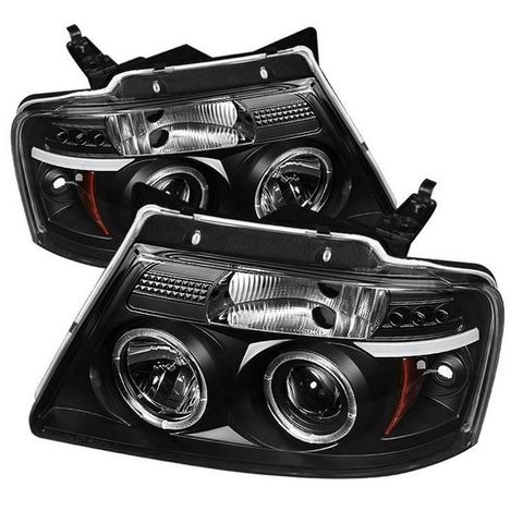 ( Spyder ) Ford F150 04-08 Projector Headlights-Version 2-LED Halo-LED ( Replace