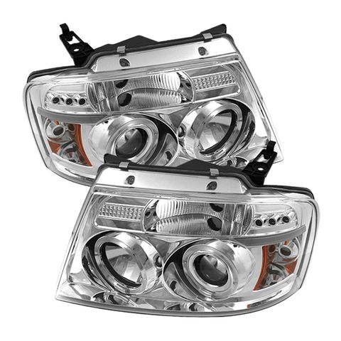 (Spyder) Ford F150 04-08 Projector Headlights-Version 2-LED Halo-LED ( Replaceab