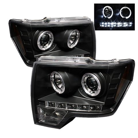 ( Spyder ) Ford F150 09-14 Projector Headlights-Halogen Model Only ( Not Compati