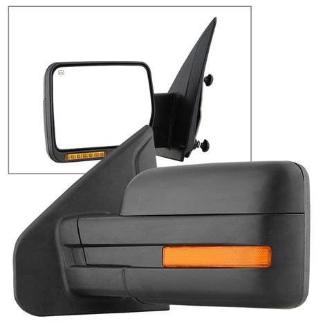 (xTune) Ford F150 07-14 POWER Heated Amber LED Signal OE Mirror-Left