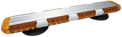 LED Warning Light Bar; 23 in.; Amber; Magnetic Mount; Incl. Power Adaptor;