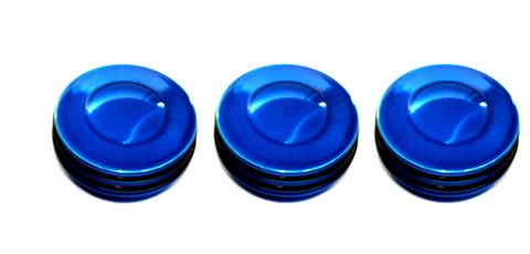 Interior Dash Knobs (set of 3)-O-ring Blue