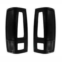 Taillight Covers French Cuts-Black (Paintable)