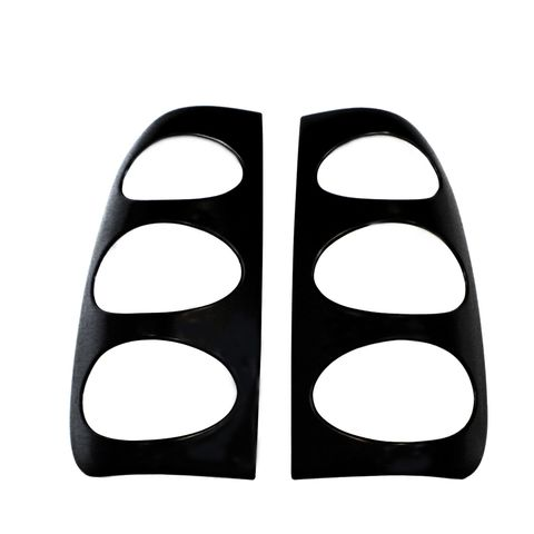Taillight Covers Ovals-Black (Paintable)