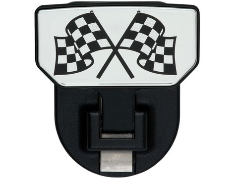 HD Universal Hitch Step Checkered Flag-single