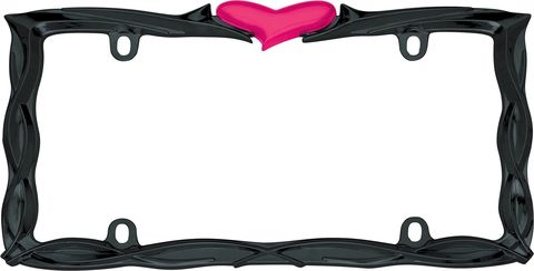 HEART, GLOSSY BLACK/PINK