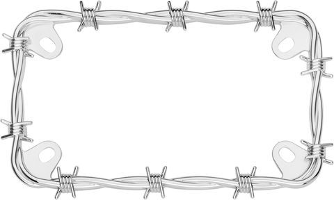MC BARBED WIRE LISENCE PLATECHROME