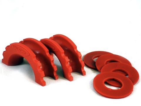 D-Ring Isolator and Washers; Red