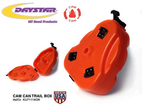 Cam Can; Trail Box; Only; Orange (Storage Container)