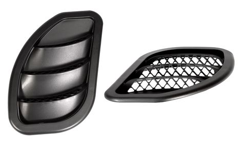 07-17 Jeep JK Hood Side Vent Kit; Right/Left; Black (Pair)