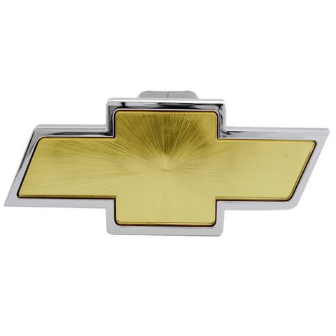 Chevrolet Chrome with Gold Center Hitch Cover