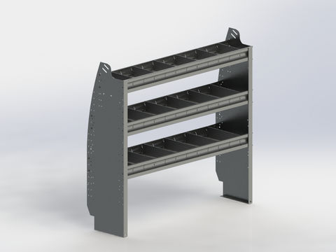 Shelf Unit, Contoured, Full-Size Van