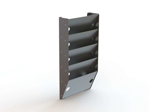 Paper Holder, Extra Deep, 5 Slots