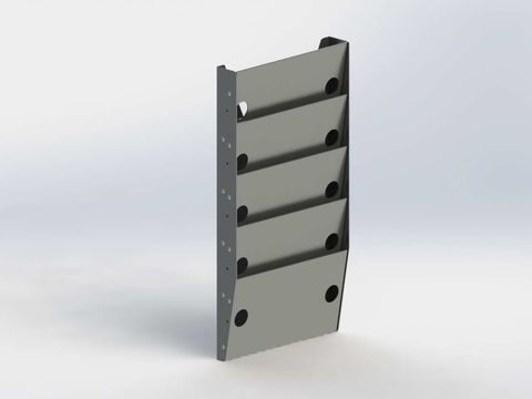 Paper Holder, Regular Depth, 5 Slots
