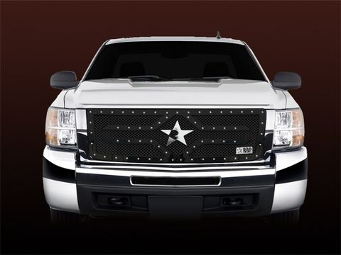 RX-2 Series studded frame-main grille-BLACK-1pc (replaces OE grille)