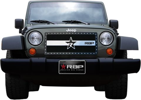 RX 3 Series studded frame-main grille-BLACK/CHROME-1pc (requires cutting)