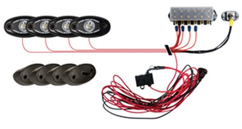 Rock Light Kit- Red (4 lights)