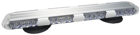 LED Warning Light Bar; 23 in.; Amber/Clear; Magnetic Mount; Incl. Power Adaptor