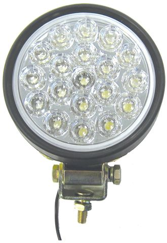 Flood LED Lamp; 19 Diodes; Rubber Housing; 12V;