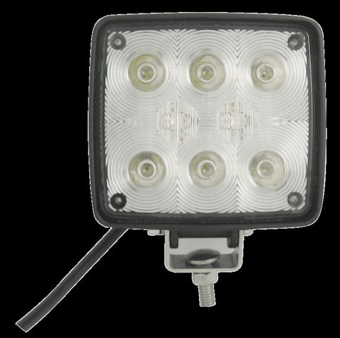 Flood LED Lamp; 8 Diodes x 1 Watt; Cast Aluminum Housing; Black Finish; 9 To 36V