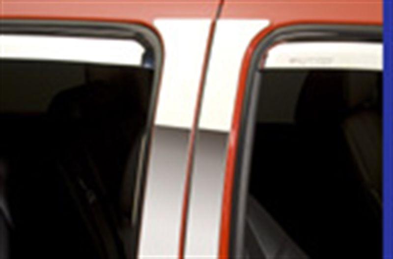 Door Pillar Post Trim Set-Classic Decorative Stainless Steel Left Right Putco