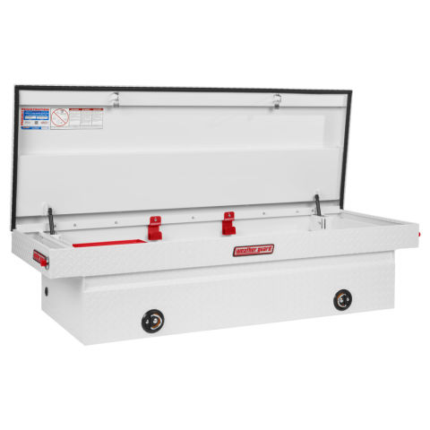 Model 117-3-02 Saddle Box, Aluminum, Full Extra Wide, 15.3 cu ft