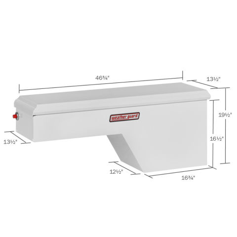Model 163-3-01 Pork Chop Box, Steel, Passenger Side, 3.4 cu ft