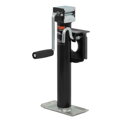Bracket-Mount Swivel Jack with Side Handle (2;000 lbs.; 10in. Travel)