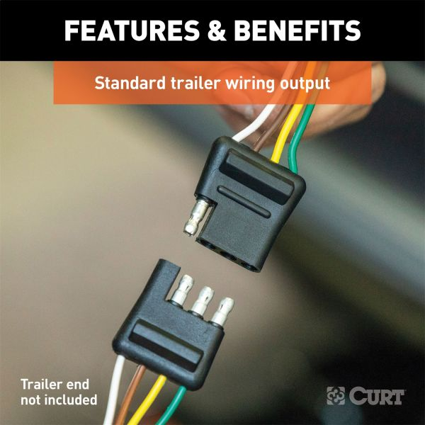 custom wiring harness; 4-way flat output; select kia sportage | #cur56251 |  action car and truck accessories™  action car and truck accessories