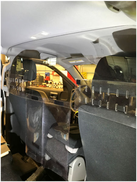 Interior Sneeze Guard 48x 12; Passenger Car  #ETF4812  Action Car and Truck Accessories™