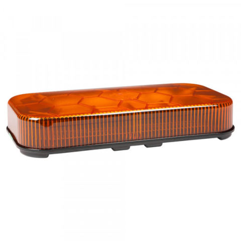 Class I LED Mini Light Bar; Permanent Mount, Amber, 12V/24V