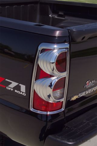 CHROME TAIL LIGHT COVER, SILVERADO 03-06