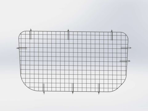 Window Grill, Side Door, Sprinter P/S